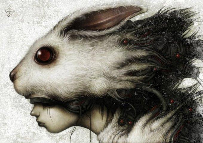 Shingo 'Shichigoro' Matsunuma is a Japanese artist based out of Yokohama, Japan.His imaginative, but dark mechanized creatures are both human and fantasy – a surreal blend of dark perfection.
