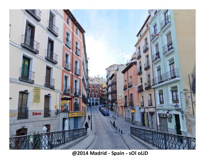 Typical street. Old Madrid. Madrid - Spain