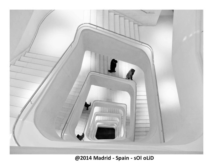 Detail of staircase in CaixaForum - Madrid